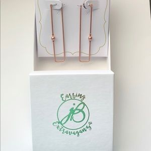 jBloom rose gold earrings NIB